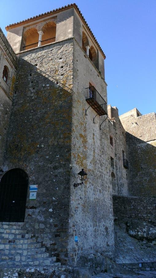 Castellar de los angeles Frontera - Zewnętrzny Castillo 1 zdjęcie royalty free
