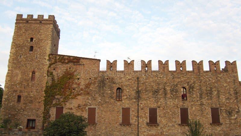 Castellarano' Manor. The manor of Castellarano, Middle age fortified italian village royalty free stock photography
