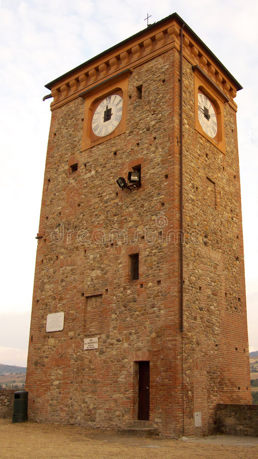 Castellarano's clock tower stock photography