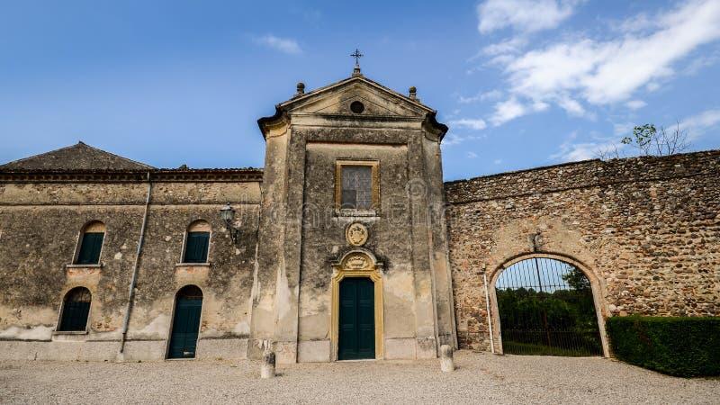 Castellaro Lagusello, Mantova, Itália imagens de stock