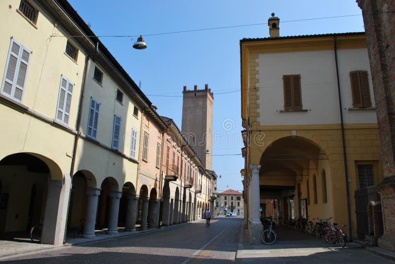 Castelleone Dorf stockbild