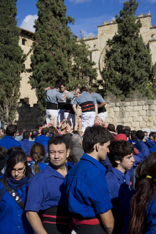 Free Castellers Royalty Free Stock Photography - 15736637