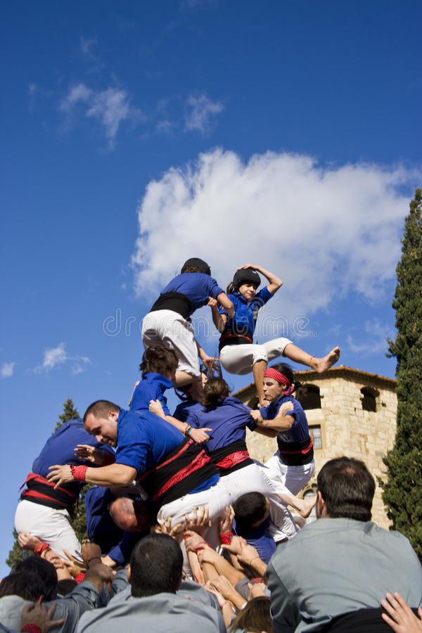 Free Castellers Royalty Free Stock Photography - 15736647