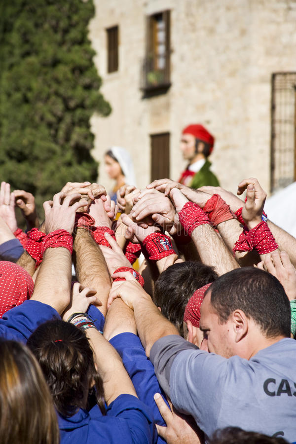 Download Castellers editorial stock photo. Image of casteller - 15736663