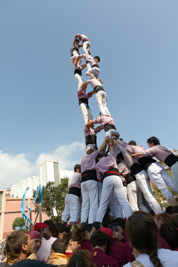Download Castellers editorial photo. Image of force, badalona - 26566641