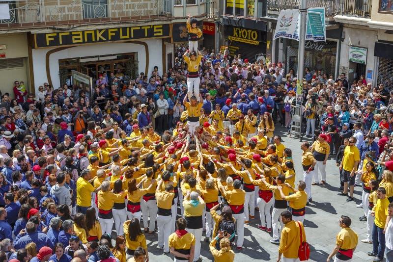 Castellers Barcelona 2013 obrazy stock