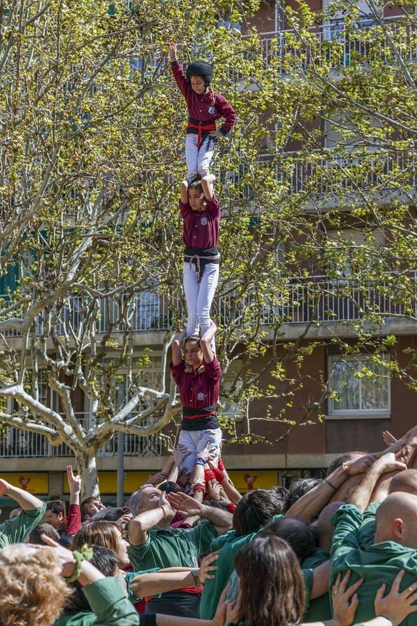 Castellers Sant Cugat 2013 royalty-vrije stock afbeeldingen