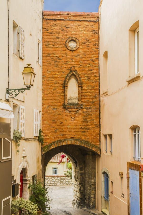 Castellet wioska zdjęcie stock