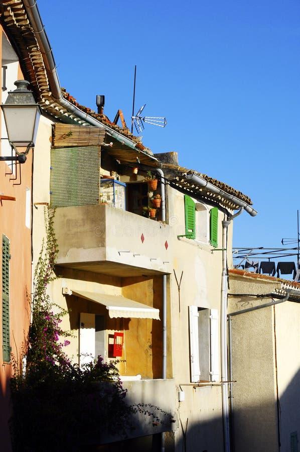 Castelletdorp, Zuid-Frankrijk royalty-vrije stock foto