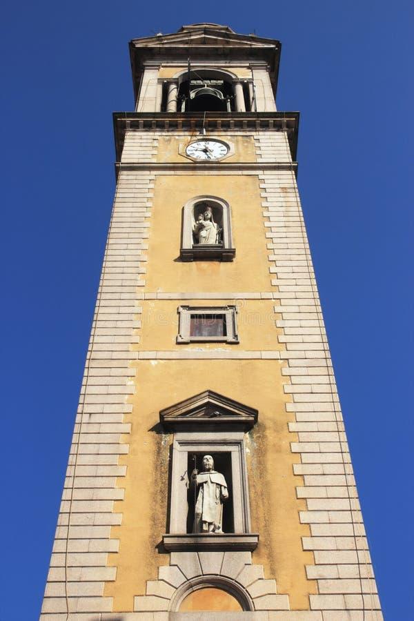 Castelletto Sopra Ticino Klocka torn royaltyfri bild
