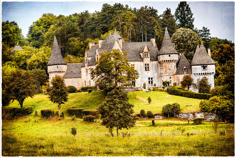 Castelli della Francia fotografia stock