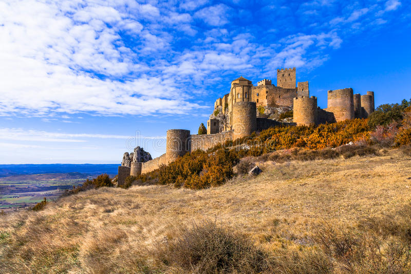 Castelli della Spagna - Loare nell'Aragona immagine stock