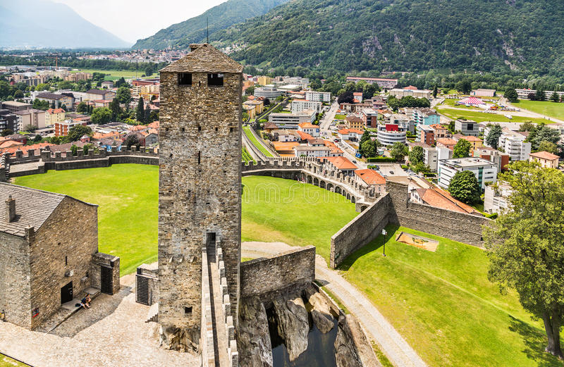 Castelli di Bellinzona switzerland fotografie stock libere da diritti