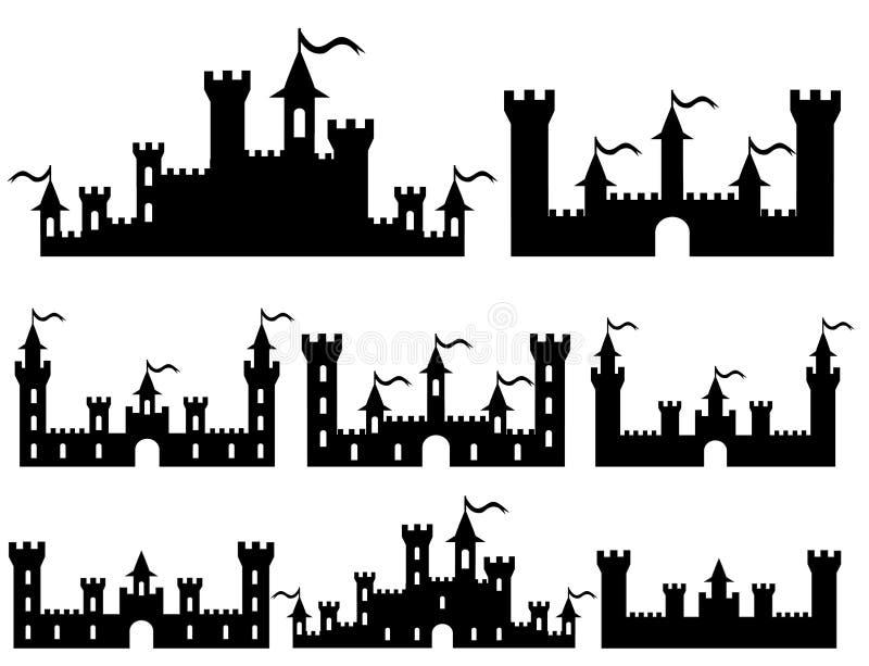Castelli di fantasia per progettazione Vettore royalty illustrazione gratis