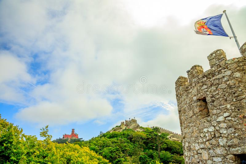 Castelli di Sintra fotografia stock