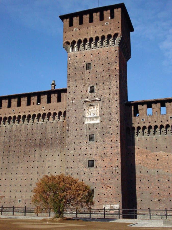 castello米兰sforzesco 库存照片