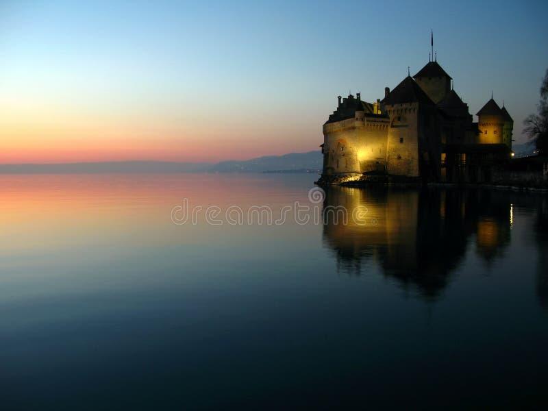 Castello 08, Montreux, Svizzera di Chillon fotografie stock
