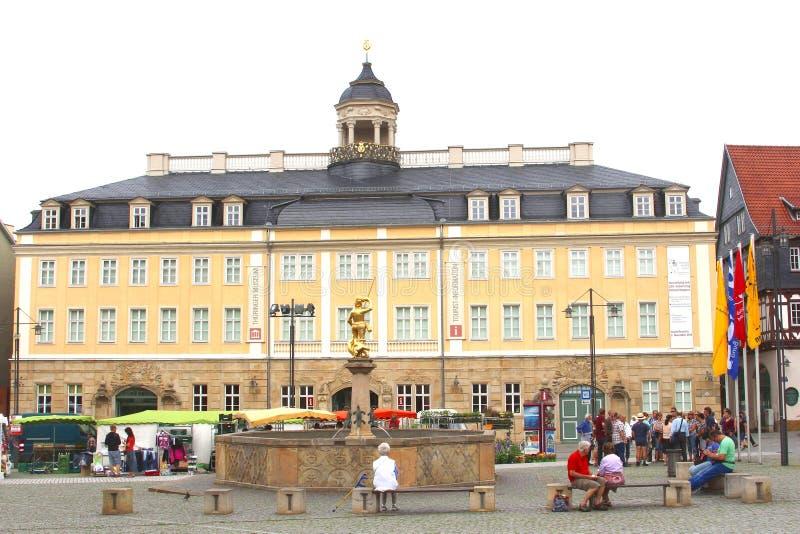 Castello al quadrato del mercato, Eisenach della città immagini stock