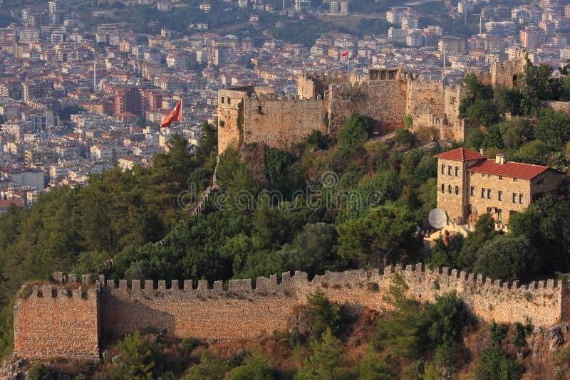 Castello in Alanya La Turchia fotografia stock