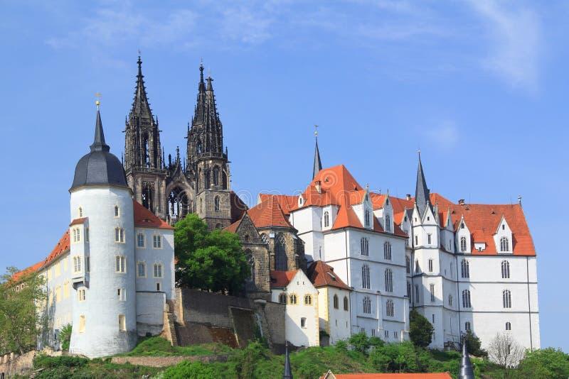 Castello Albrechtsburg Meissen, Germania fotografie stock