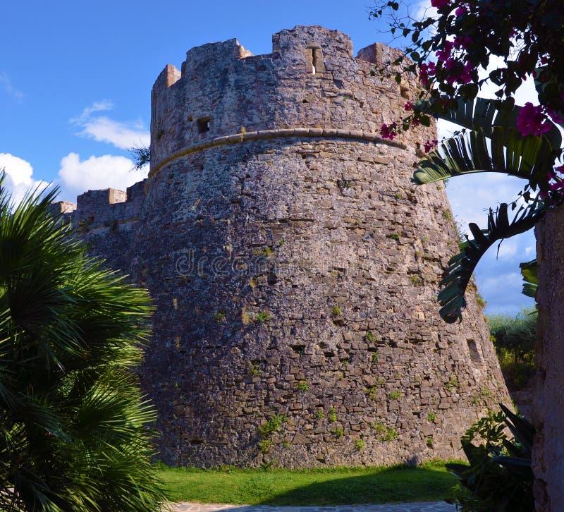 Castello aragonese di Agropoli immagine stock