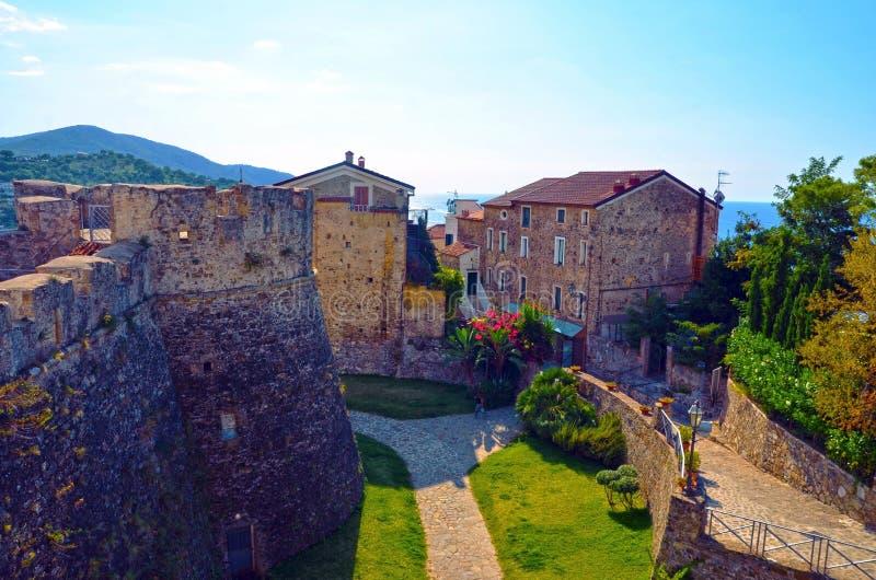Castello aragonese di Agropoli fotografia stock