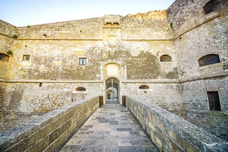 Castello aragonese in Otranto, Puglia, Italia fotografia stock libera da diritti
