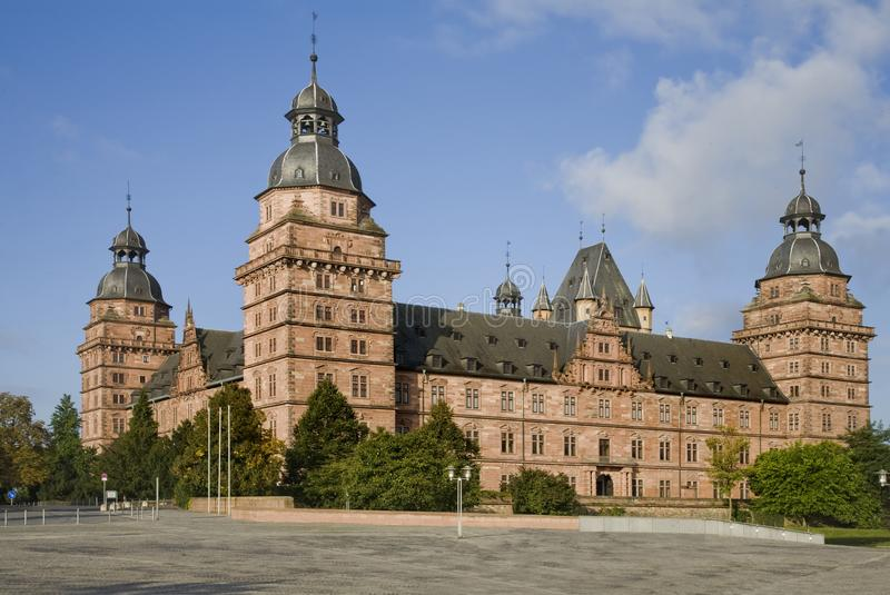 Castello Aschaffenburg, Germania del ` s del vescovo fotografia stock libera da diritti
