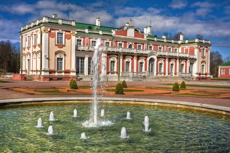 Castello barrocco di stile in Kadriorg Tallinn immagine stock libera da diritti