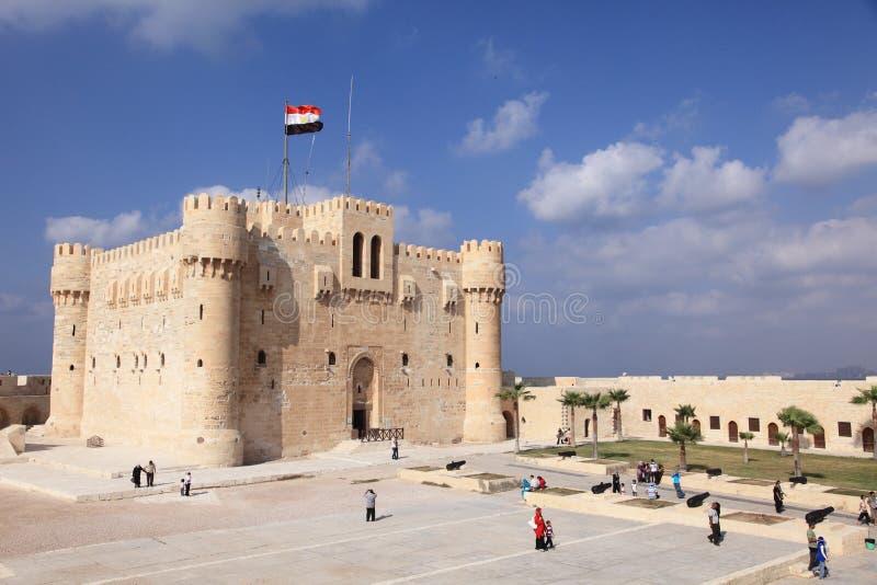 Castello bianco in Alessandria d'Egitto immagini stock libere da diritti