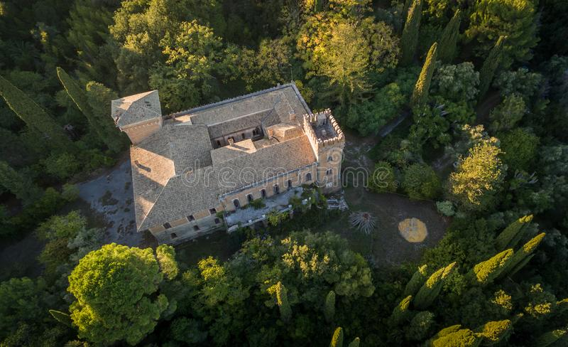 Castello Bibelli at Corfu Greece.18th century elegant villa that now is abandoned. stock image