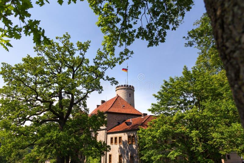 Castello Bielefeld Germania di Sparrenburg di estate fotografia stock libera da diritti