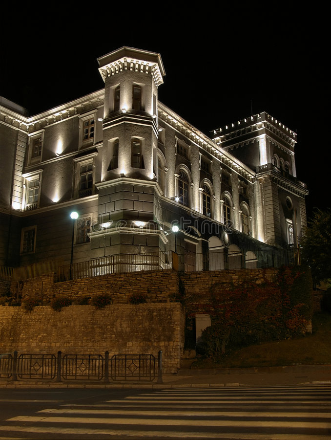 Castello Bielsko-Biala fotografie stock libere da diritti