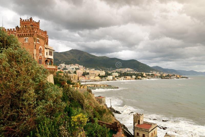 Castello Boccadasse fotografie stock libere da diritti