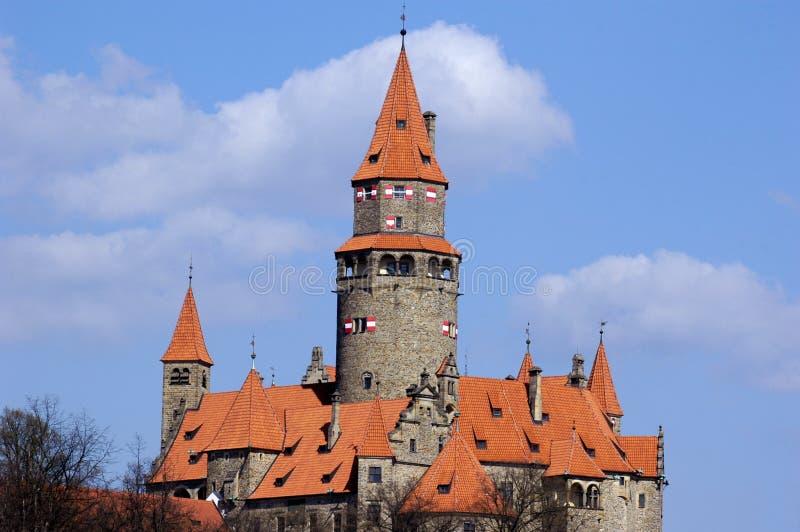 Castello Bouzov immagine stock