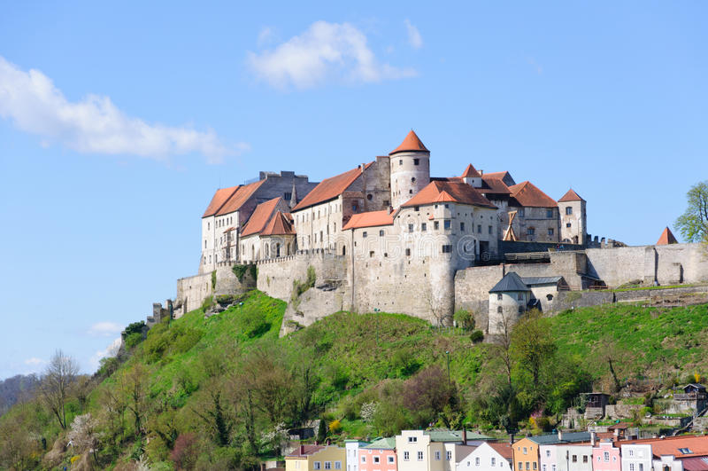 Castello Burghausen, Germania immagine stock libera da diritti