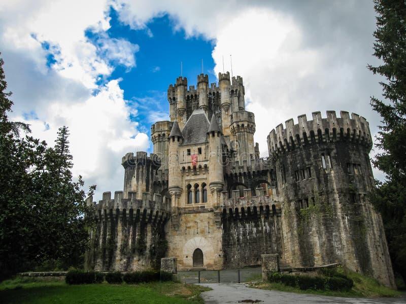Castello Butron, paese basco, Spagna fotografia stock libera da diritti