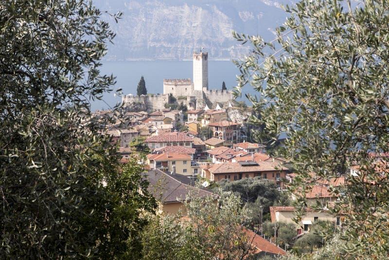 Download Castello Callgero, Malcesine, Italien Fotografering för Bildbyråer - Bild av medeltida, liggande: 78731397