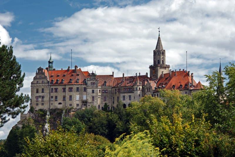 Castello-castello di Sigmaringen e sedile del governo per i principi di Hohenzollern fotografie stock
