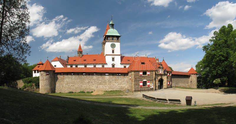 Castello ceco popolare Pernstejn immagine stock