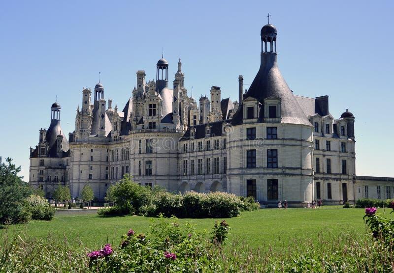 Castello Chambord in tutta la sua gloria fotografie stock