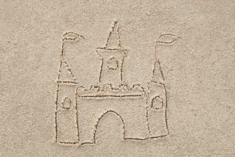 Castello che assorbe sabbia immagine stock