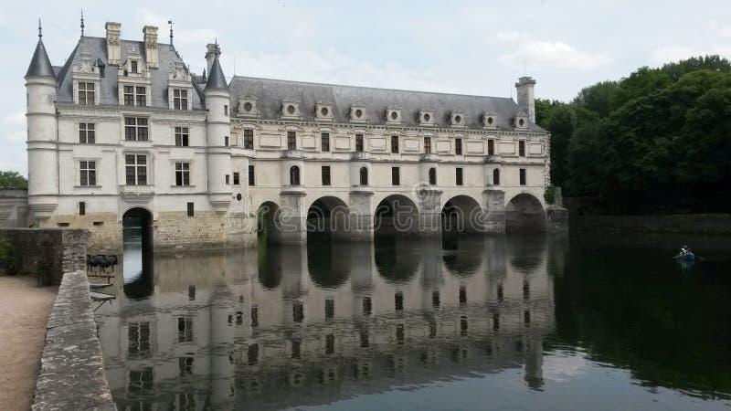 Download Castello Chenonceau fotografia stock. Immagine di fiume - 55350292