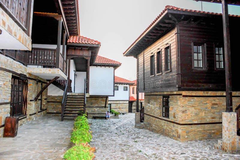 Castello complesso turistico Rubaiyat, Bulgaria immagini stock