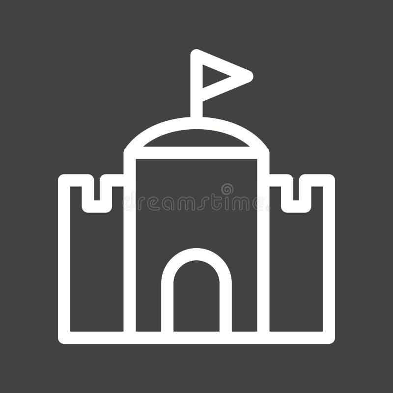 castello con la bandiera royalty illustrazione gratis