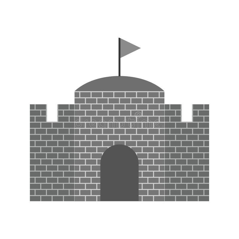 castello con la bandiera illustrazione vettoriale