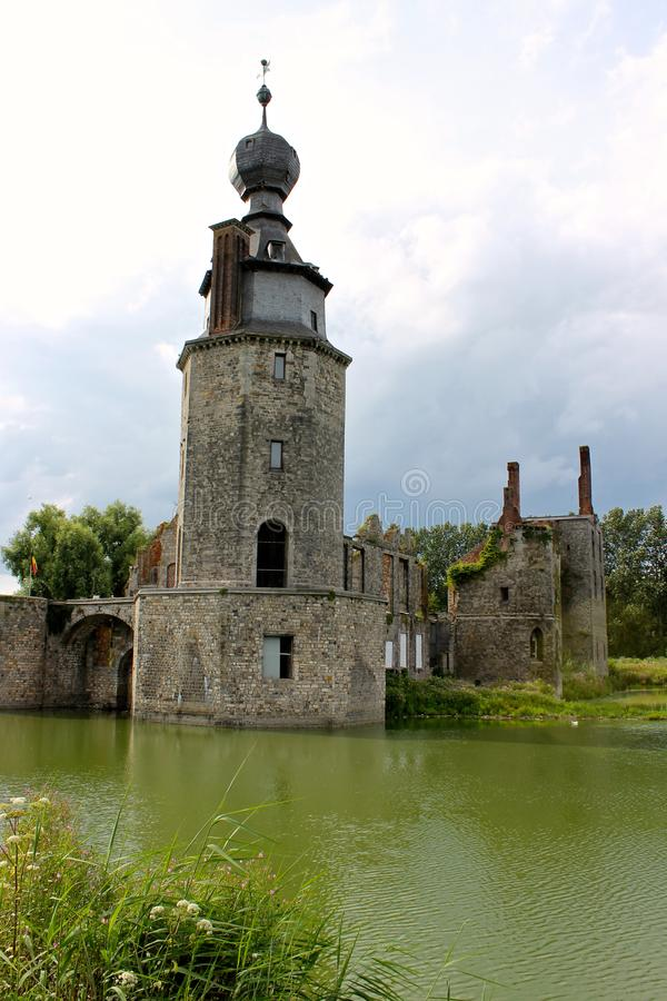 "Castello d ""Havre, Mons, Belgio immagine stock"