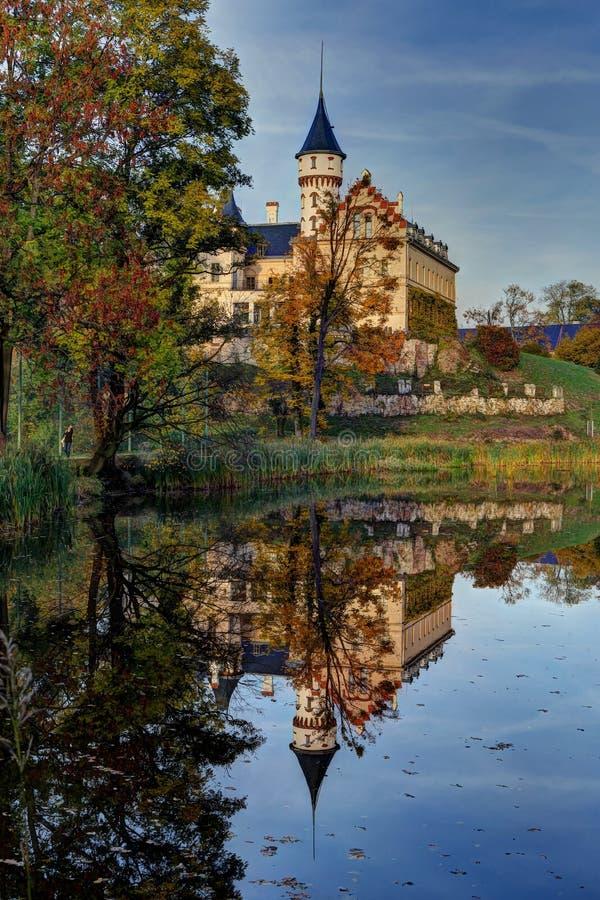 Castello dal lago fotografia stock
