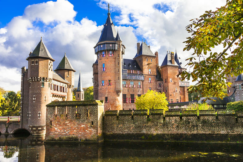 Castello De Haar di fiaba fotografie stock libere da diritti