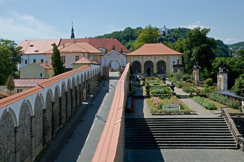 Castello Decin, repubblica Ceca fotografia stock libera da diritti